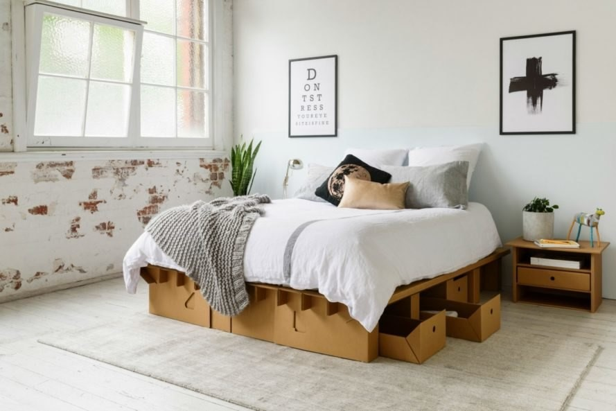 Bedroom-ideas-cardboard-bed
