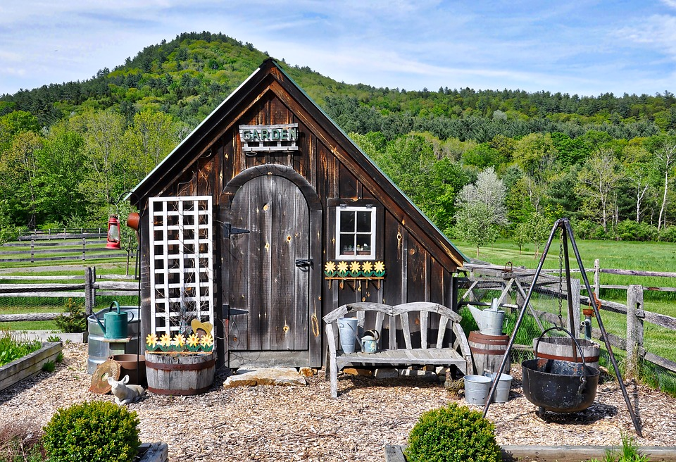 Rustic Country Garden Shed