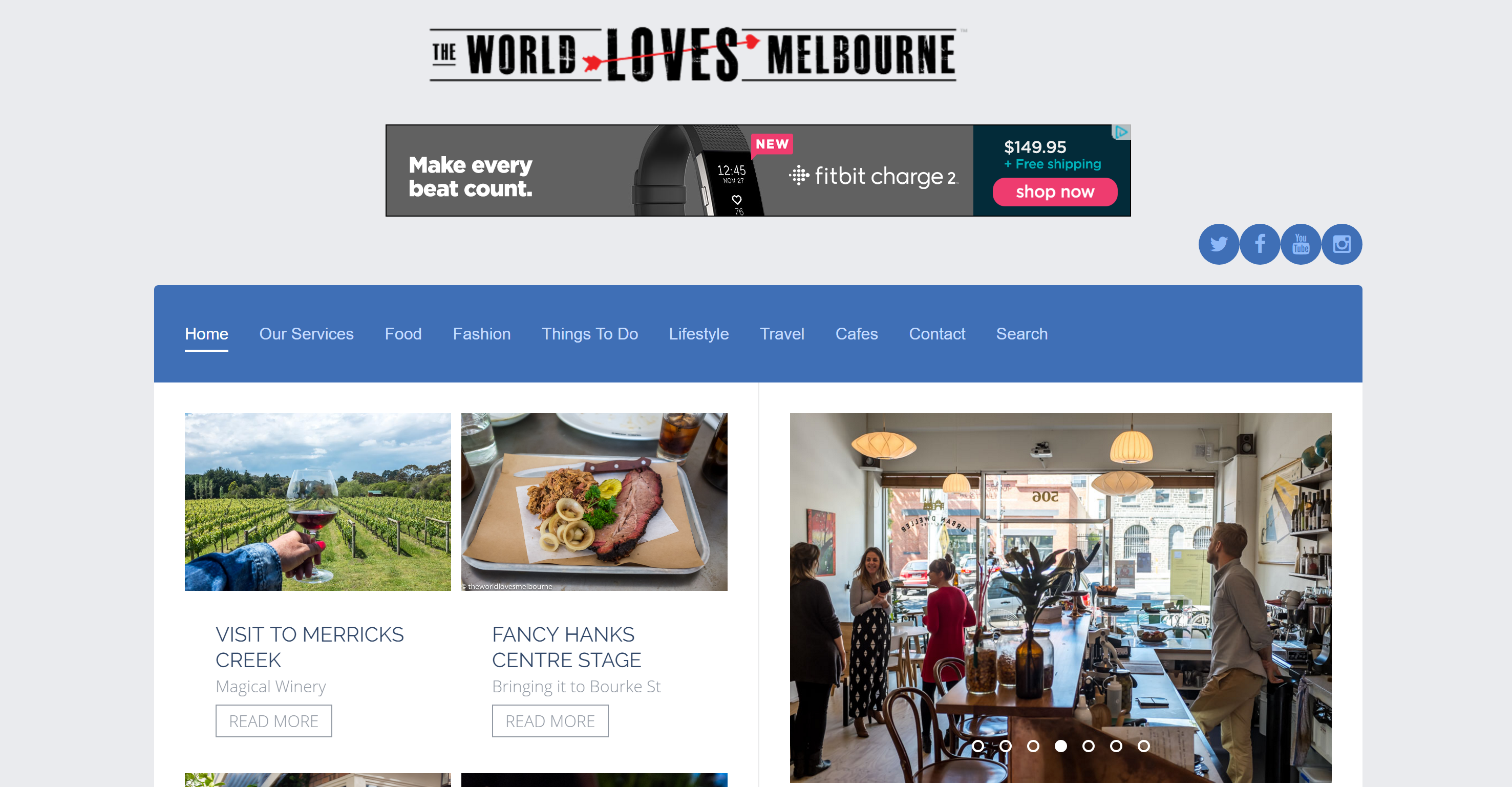 The World Loves Melbourne logo